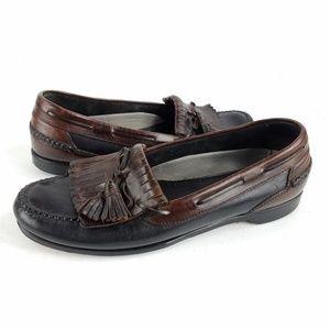 Johnston & Murphy Leather Kiltie Loafers 13 B/2A